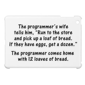 The Programmer and His Wife - Second in a series iPad Mini Cover
