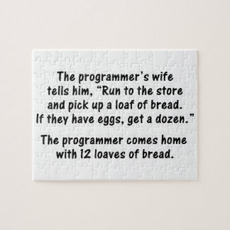 The Programmer and His Wife - Second in a series Jigsaw Puzzle