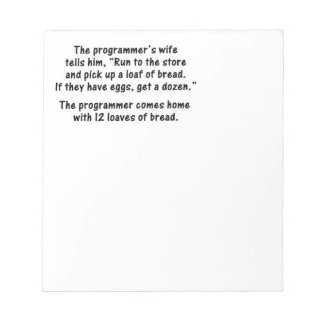 The Programmer and His Wife - Second in a series Notepad