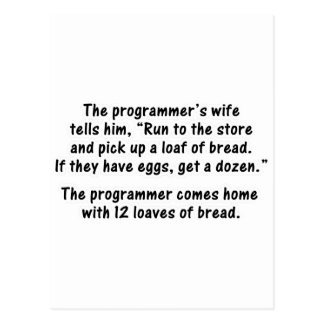 The Programmer and His Wife - Second in a series Post Cards