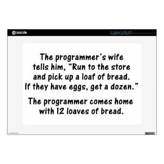 The Programmer and His Wife - Second in a series Skin For Laptop