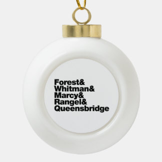 The Projects Ceramic Ball Christmas Ornament