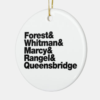 The Projects Double-Sided Ceramic Round Christmas Ornament