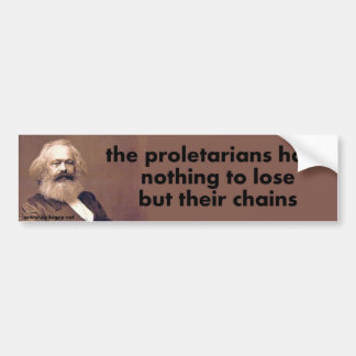 the proletarians bumper sticker