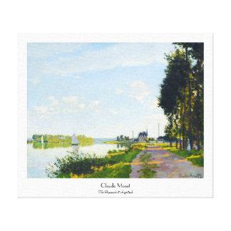 The Promenade at Argenteuil  Claude Monet Canvas Print