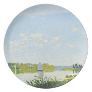 The Promenade at Argenteuil  Claude Monet Party Plates
