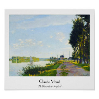 The Promenade at Argenteuil  Claude Monet Poster