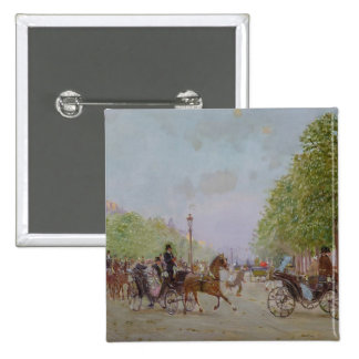 The Promenade on the Champs-Elysees Pinback Buttons
