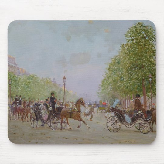 The Promenade on the Champs-Elysees Mouse Pad