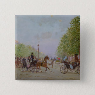 The Promenade on the Champs-Elysees Pinback Button