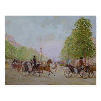 The Promenade on the Champs-Elysees Postcard