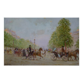 The Promenade on the Champs-Elysees Poster