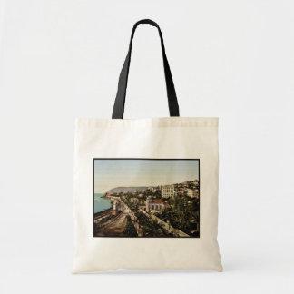 The promenade, San Remo, Riviera classic Photochro Tote Bags