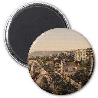 The Promenade, Sanremo, Liguria, Italy 2 Inch Round Magnet