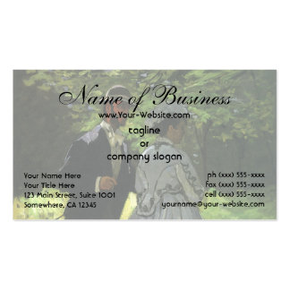 The Promenaders (The Strollers) by Claude Monet Double-Sided Standard Business Cards (Pack Of 100)
