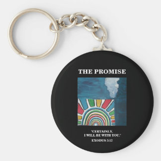 THE PROMISE BASIC ROUND BUTTON KEYCHAIN