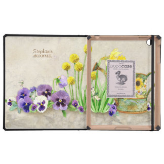 The Promise of Spring - Modern Watercolor Floral iPad Folio Case