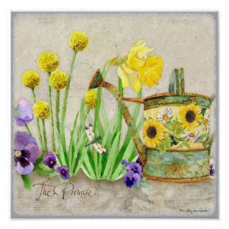 The Promise of Spring - Modern Watercolor Floral Poster