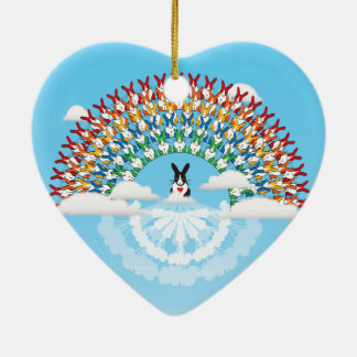 THE PROMISE Double-Sided HEART CERAMIC CHRISTMAS ORNAMENT