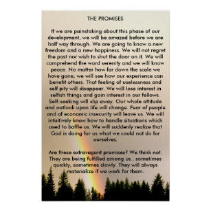 photo regarding Aa Promises Printable named The Claims Of A A Artwork Wall Décor Zazzle