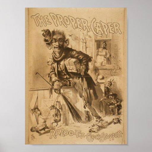 The Proper Caper, 'Razoo The Clock Stopper' Poster