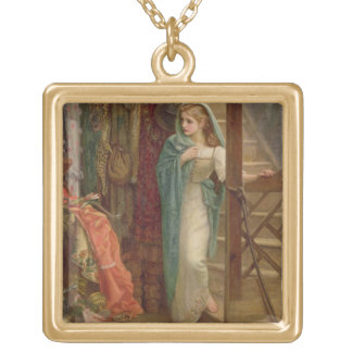 The Property Room, 1879 (oil on canvas) Gold Plated Necklace