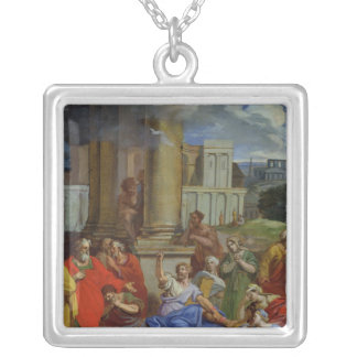 The Prophet Agabus Predicting Silver Plated Necklace