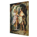The Prophet Elijah and the Angel Canvas Print