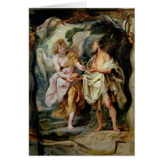The Prophet Elijah and the Angel Card