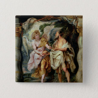 The Prophet Elijah and the Angel Pinback Button