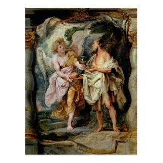 The Prophet Elijah and the Angel Postcard