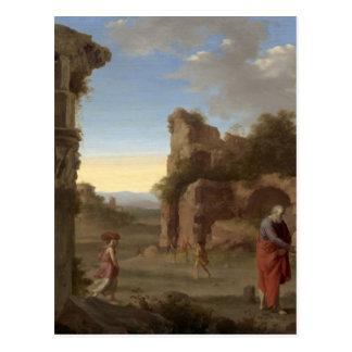 The Prophet Elijah and the Widow of Zarephath Postcard