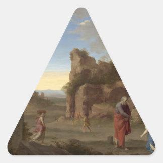 The Prophet Elijah and the Widow of Zarephath Stickers