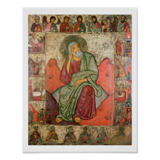 The Prophet Elijah, Pskov School (panel) Poster