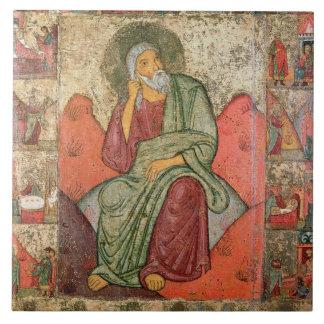The Prophet Elijah, Pskov School (panel) Tile