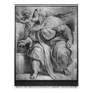 The Prophet Ezekiel, after Michangelo Buonarroti Postcard