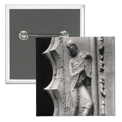 The prophet Isaiah unrolling a phylactery 2 Inch Square Button
