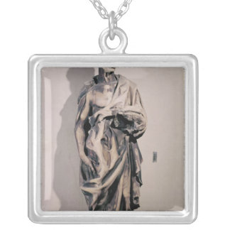 The Prophet Jeremiah, 1423-27 Silver Plated Necklace