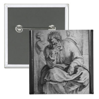 The Prophet Jeremiah 2 Inch Square Button