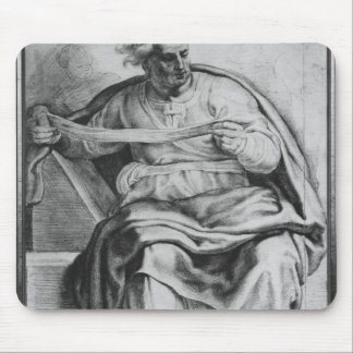 The Prophet Joel, after Michangelo Buonarroti Mouse Pad