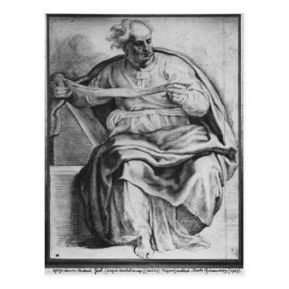 The Prophet Joel, after Michangelo Buonarroti Postcard