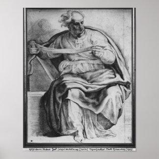 The Prophet Joel, after Michangelo Buonarroti Poster