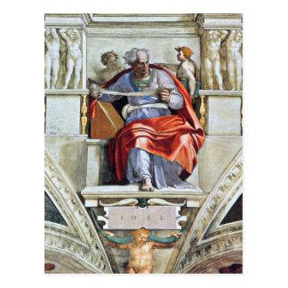 The prophet Joel by Michelangelo Unterberger Postcard