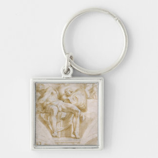 The Prophet Jonah and Two Destroyed Lunettes Keychain