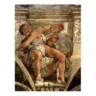 The prophet Jonas by Michelangelo Unterberger Postcard