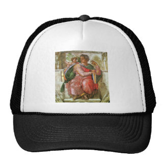 The prophet Josiah detail by Michelangelo Trucker Hat