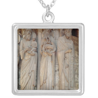 The Prophet Simeon, St. John the Baptist Silver Plated Necklace