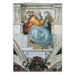 The prophet Zacharias detail by Michelangelo Greeting Cards