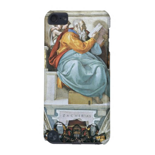 The prophet Zacharias detail by Michelangelo iPod Touch 5G Cases