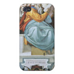 The prophet Zacharias detail by Michelangelo Covers For iPhone 4
